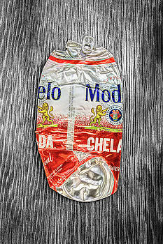 Crushed Beer Can Red Chelada on BW Plywood 83 by YoPedro
