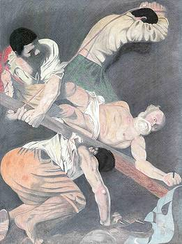 Crucifixion of Saint Peter Caravaggio by Bernardo Capicotto