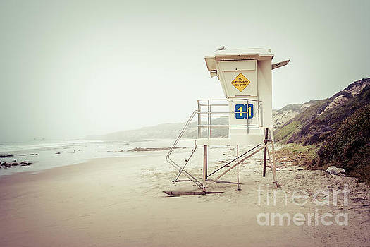 Paul Velgos - Crystal Cove Lifeguard Tower 11 Vintage Picture
