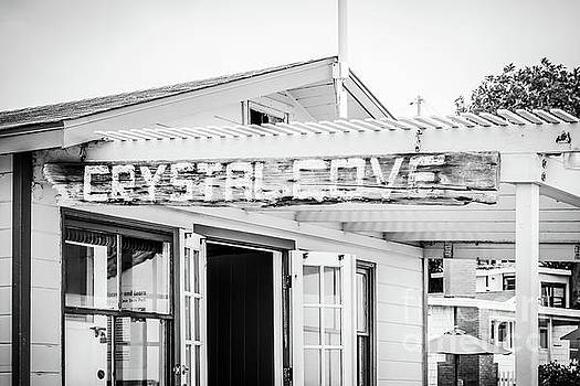 Paul Velgos - Crystal Cove Sign Black and White Picture