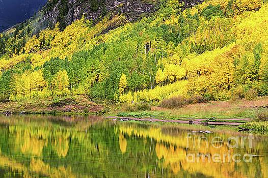 Crystal Lake CO in Fall Splendor by Tibor Vari
