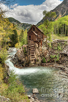 Crystal Mill in Fall Colors Colorado by Tibor Vari
