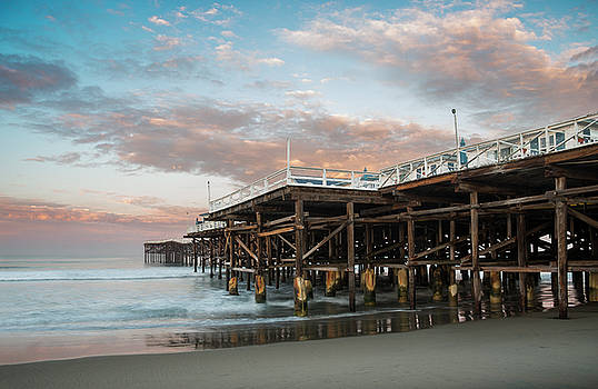 Crystal Pier Morning Clouds by William Dunigan