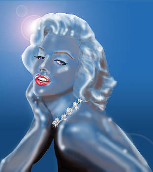 Crystal Star - Marylin Monroe by Nicole I Hamilton