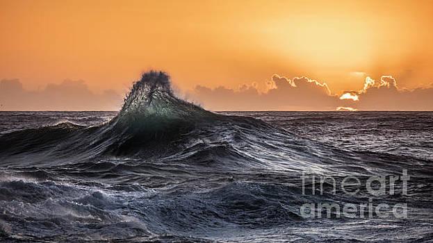 Crystal Wave Sunset Napali Coast Kauai Hawaii by Dustin K Ryan
