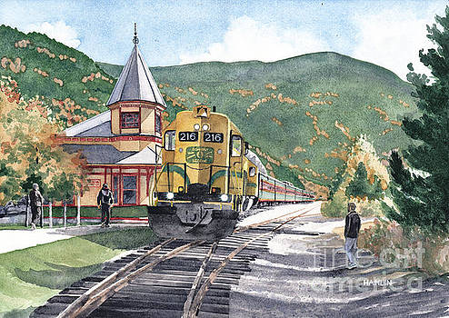 Conway Scenic Railroad 216 at Crawford Station by Steve Hamlin