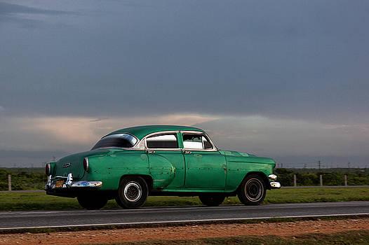 Erron - Cuban Car at Sunset