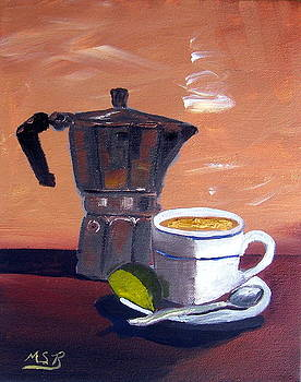 Cuban Coffee and Lime Tan Left by Maria Soto Robbins