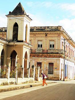 Cuban Man Crossing Street by Krin Van Tatenhove