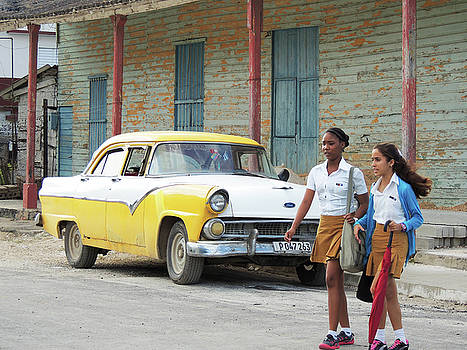 Cuban Schoolgirls by Krin Van Tatenhove