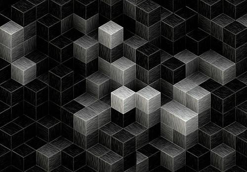 Cubed B/W by Jack Zulli