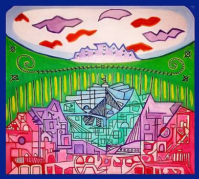 Cubic Graffiti City by Christopher Hawke