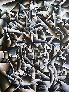 Cubist Guitar  by Brandon Allebach