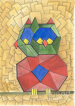 Cubist Owl by Lilibeth Andre