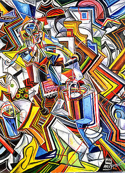 Ari Roussimoff - Cubist Water Carrier
