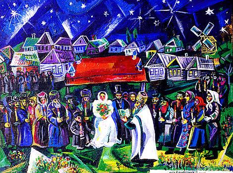 Ari Roussimoff - Cubist Jewish Wedding Ceremony