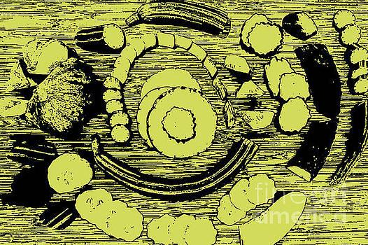 Cucumber Varieties in Circular Design by Selwa Baroody