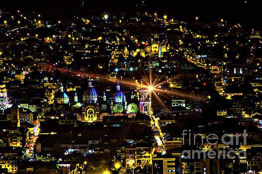 Cuenca's Historic District At Night by Al Bourassa
