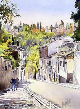 Cuesta Chapiz Granada by Margaret Merry