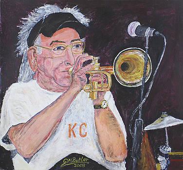 Cuff Billett on Trumpet by Peter Mark Butler