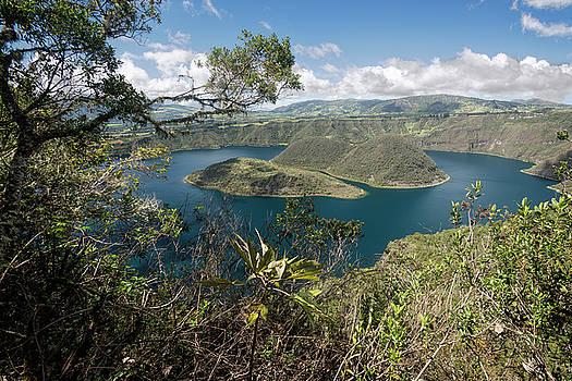 Cuicocha lagoon by Henri Leduc