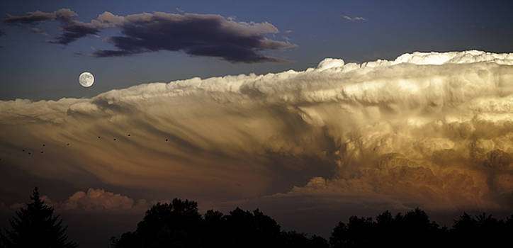 Cumulonimbus at Sunset by Jason Moynihan