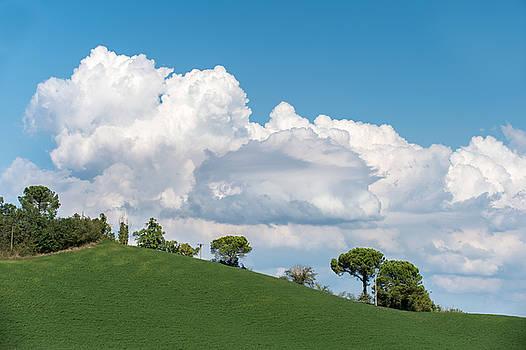 Cumulus sky by Wim Slootweg