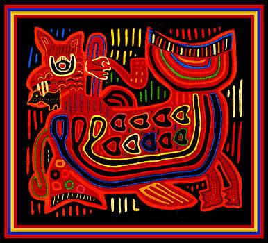 Cuna Indian Folk Art Demon by Vagabond Folk Art - Virginia Vivier