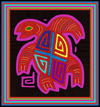 Cuna Indian Tortuga by Vagabond Folk Art - Virginia Vivier
