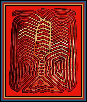 Cuna Indian Tribal Lobster by Vagabond Folk Art - Virginia Vivier