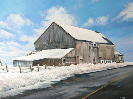 Cunninghams  Old Barn by May Moore