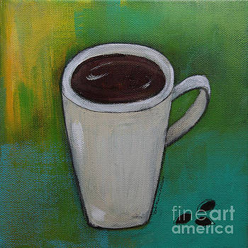 Cup of Coffee and Coffee Beans by Robin Maria Pedrero