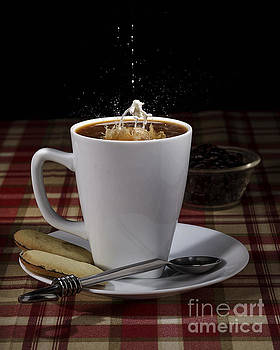 Cup of Coffee with a Splash of Milk by Art Whitton
