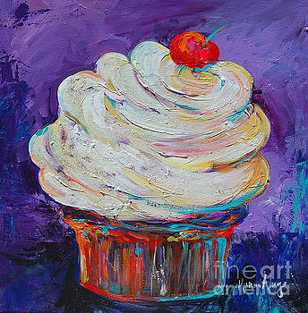 Cupcake with a Cherry on Top by Karen Ahuja