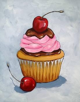 Cupcake with Cherries by Joyce Geleynse