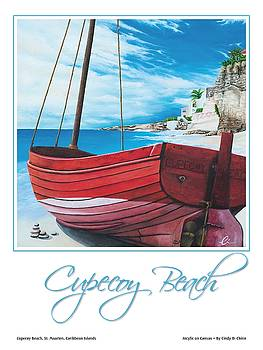 Cupecoy Beach Poster by Cindy D Chinn