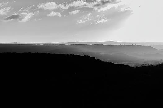 Curbar Edge Alone On The Peak by Scott Lyons