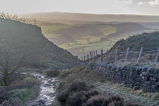 Curbar Edge Path Down The Valley by Scott Lyons