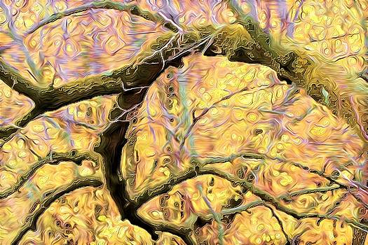 Curled Branch in Yellow by Ajp