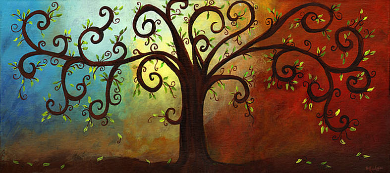 Curly Branches Tree by Elaine Hodges