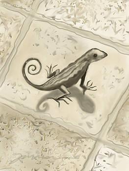 Curly Tail Lizard by Jean Pacheco Ravinski
