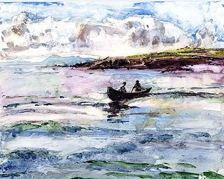 Curragh on Clew Bay by Kathleen Barnes
