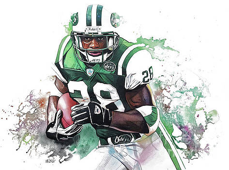 Curtis Martin New York Jets  by Michael Pattison