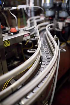 Reimar Gaertner - Curved assembly line conveyor belt for bottling beer in a brewer