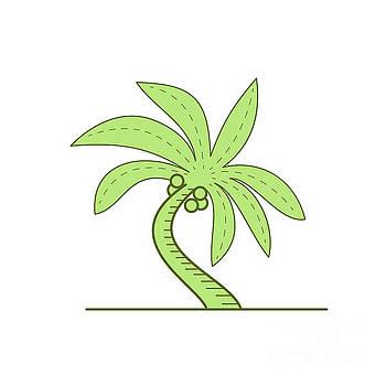 Curved Palm Tree Mono Line by Aloysius Patrimonio