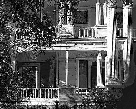 Curved Porches B W by Connie Fox