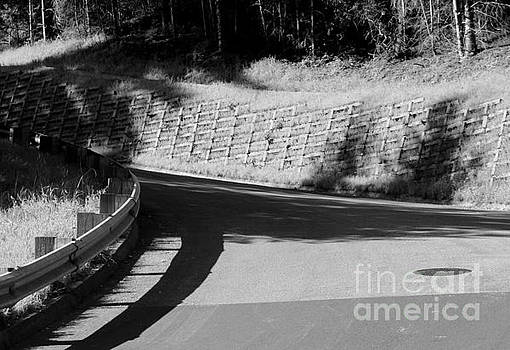 Curved Road BW by Katherine Erickson
