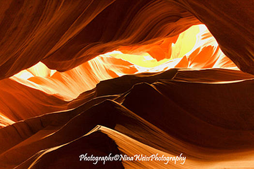 Curves of Light at Antelope Canyon - Fine Art Christmas Gift by Nina Weiss
