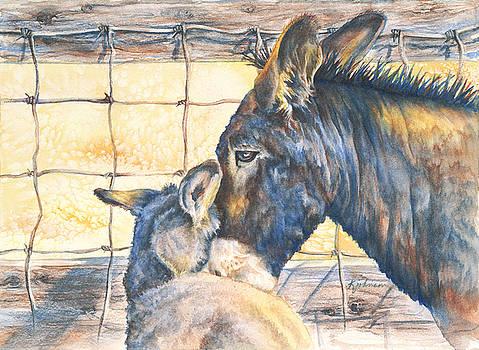 Custer's  Burros by Kay Johnson