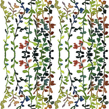 Custom Edit Watercolor Vines Pattern 1 by Garima Srivastava